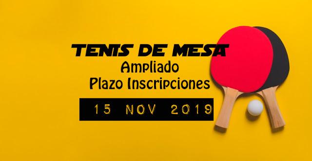 TENIS DE MESA: Ampliado plazo presentación inscripciones