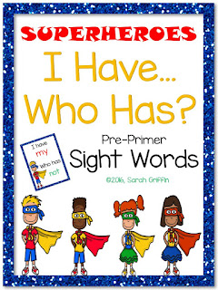 https://www.teacherspayteachers.com/Product/I-Have-Who-Has-Primer-Sight-Word-Game-Superheroes-2539897