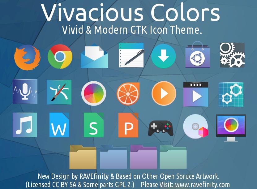 RAVEfinity: Vivacious Colors GTK Icon Theme