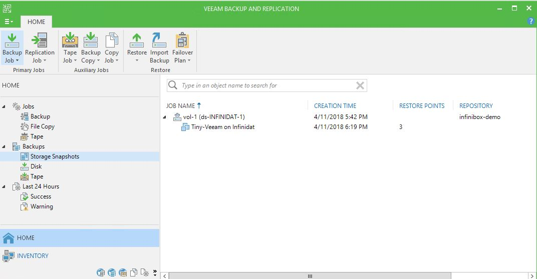 Sysadmin Stories: Veeam Backup and Replication - Infinidat