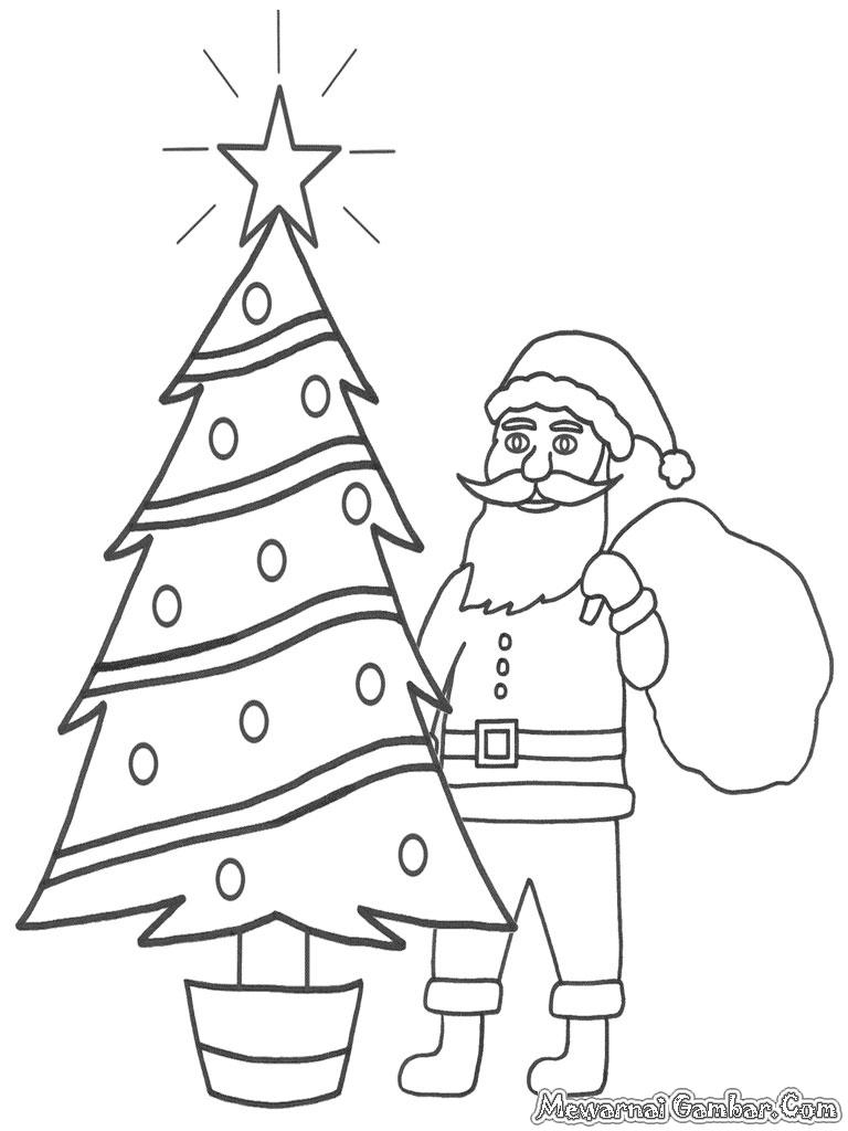 gambar hadiah natal untuk diwarnai mewarnai gambar