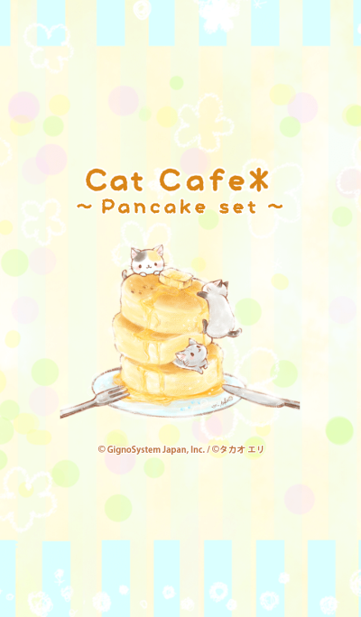 Cat cafe -pancake set-