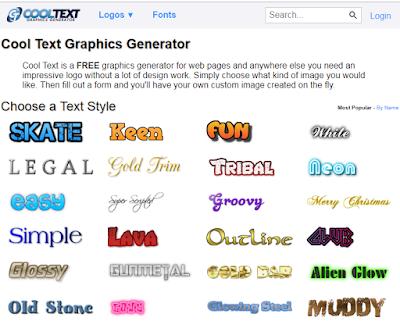 Membuat Logo Tulisan Keren dan Menarik Dengan Cooltext Online