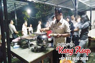 catering kambing guling di villa bamboo village lembang