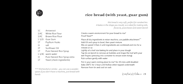 Guar gum bread recipe (traditional method)