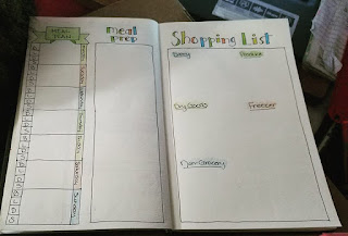Bullet Journal Meal Plan Layout - Katrina Roets