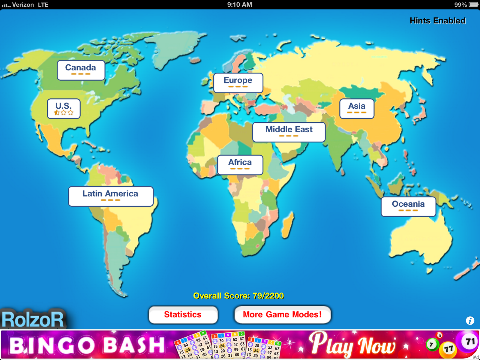 A Great Geography App