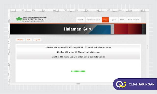Halaman Dasboard User Guru Halaman Dashboard User Admin Review Sistem Informasi Akademik Sekolah SMA, SMK, Universitas dengan Codeigniter