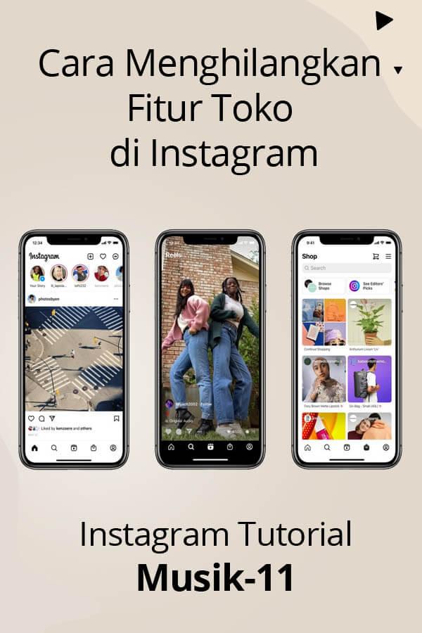 cara menghilangkan fitur toko di Instagram