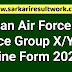 Indian Air Force Air Force Group X/Y Online Form 2020