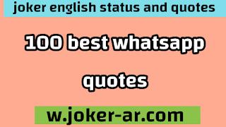 100 Best WhatsApp quotes 2021 - joker english