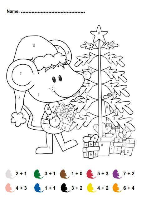 Christmas Addition Math Activity FREE! For Pre-k and Kindergarten.