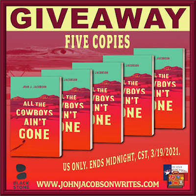 All the Cowboys Ain't Gone tour giveaway graphic. Prizes to be awarded precede this image in the post text.