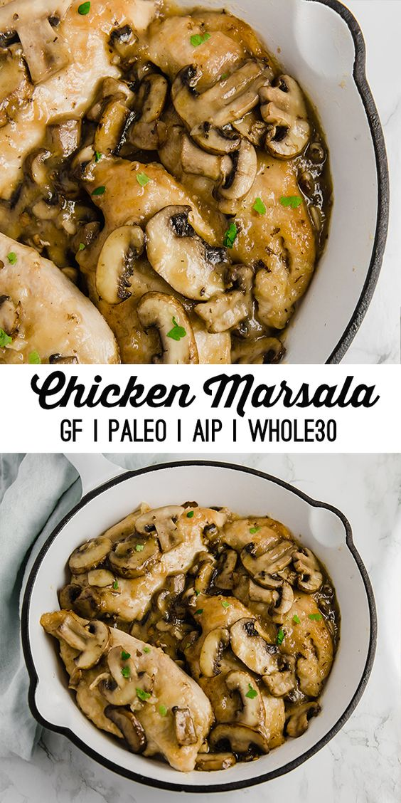 Chicken Marsala (Whole30, Paleo, AIP) - This chicken marsala has all of the flavors of the classic but is made to be paleo, whole30, and AIP compliant!