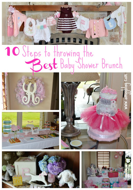 These 10 steps are essential to throwing the BEST baby shower brunch for the new mom-to-be! You can't go wrong with delicious brunch foods and good friends. #babyshower #babyshowerbrunch #brunchshower #babyshowertips
