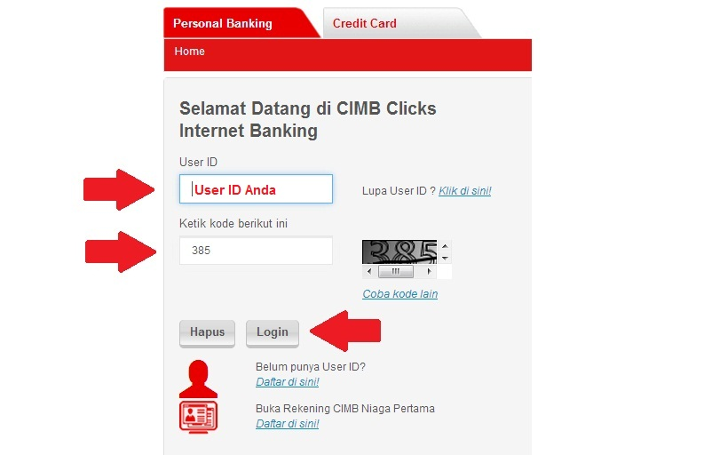 Cara Log In Pertama Kali Di Cimbclicks Internet Banking Cimb Niaga