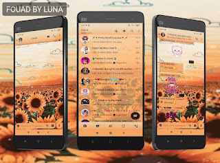 Sun Flowers Theme For YOWhatsApp & Fouad WhatsApp By Luna