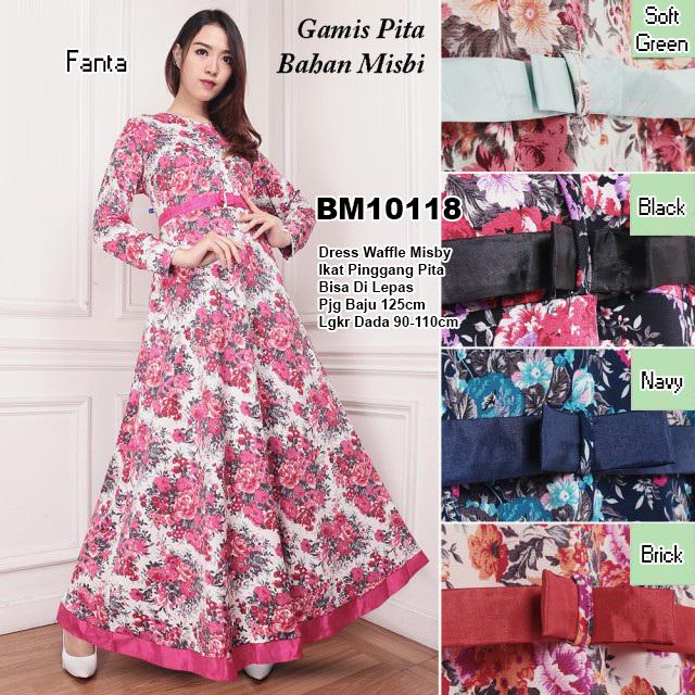 Bursa Grosir Busana Muslim Tanah Abang Bm10118 Long Dress