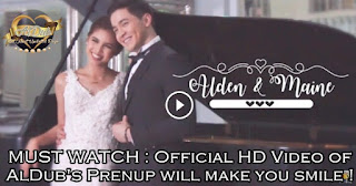 MUST WATCH : Official HD Video of AlDub's Prenup will make you smile !