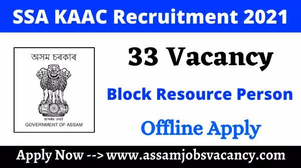 SSA KAAC Recruitment 2021