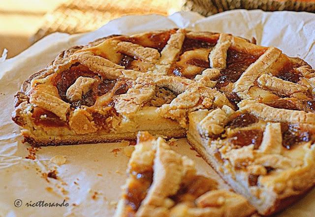 Crostata con ricotta e fichi ricetta dolce