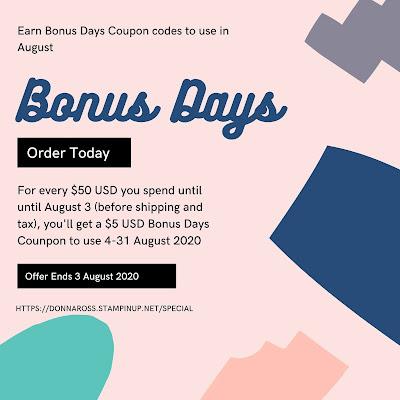 Stampin' Up! Bonus Days Special