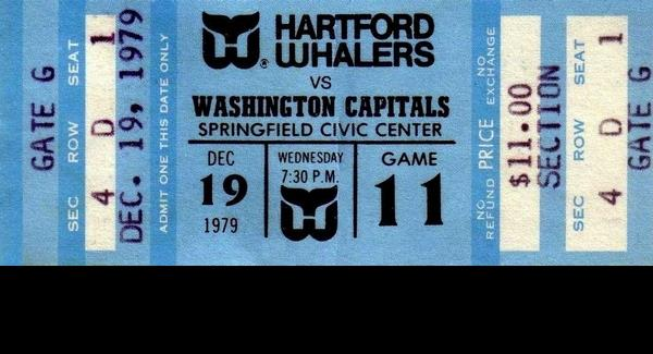 SPRINGFIELD, MA Civic Center (Where the Whalers played after snow collapsed the roof of the Hartford Civic Center)