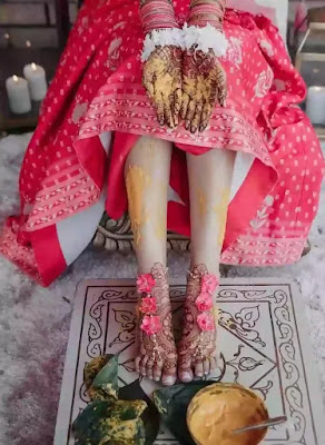 bridal mehndi design for leg