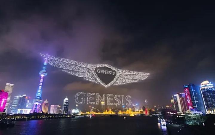 Genesis memecahkan rekor dunia untuk drone paling banyak di langit