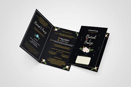 Contoh Desain Undangan Pernikahan CDR
