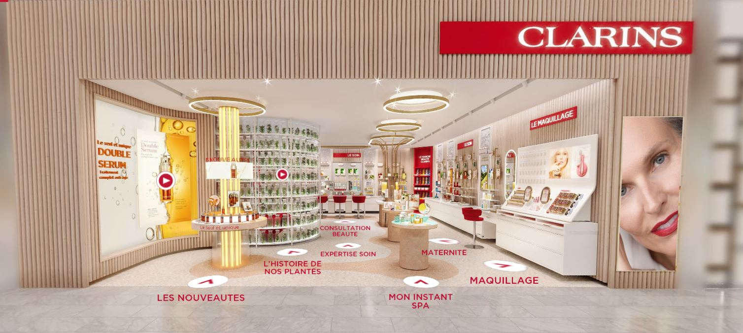 avis et test virtual store boutique clarins