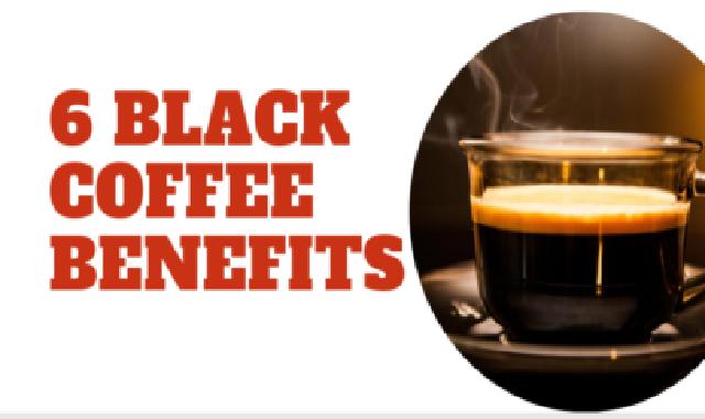 6 Black Coffee Benefits #infographic