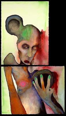 Anaclitism, pintura de Marilyn Manson