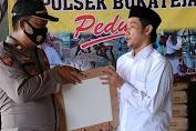 Polsek Bukateja Peduli, Beri Bantuan Pembangunan Ponpes Minhajut Tholabah