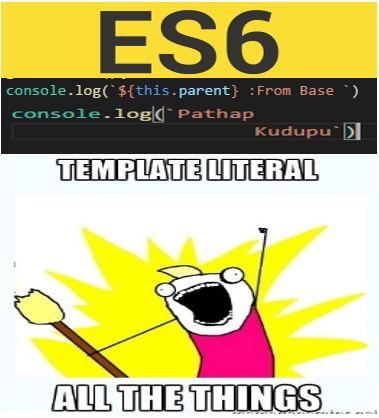 Web Snippets Template literals in ES6