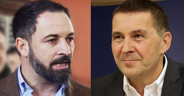 "Santiago Abascal incendia las redes tras llamar ""etarra"" a Arnaldo Otegi"