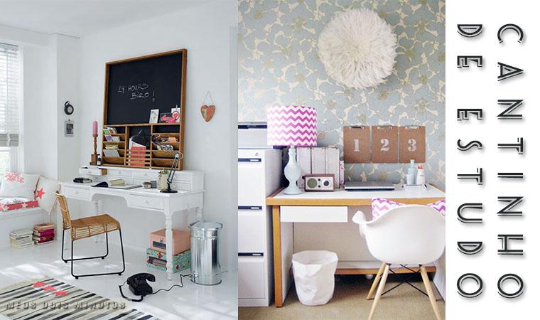 decorar quarto pequeno com canto de estudo