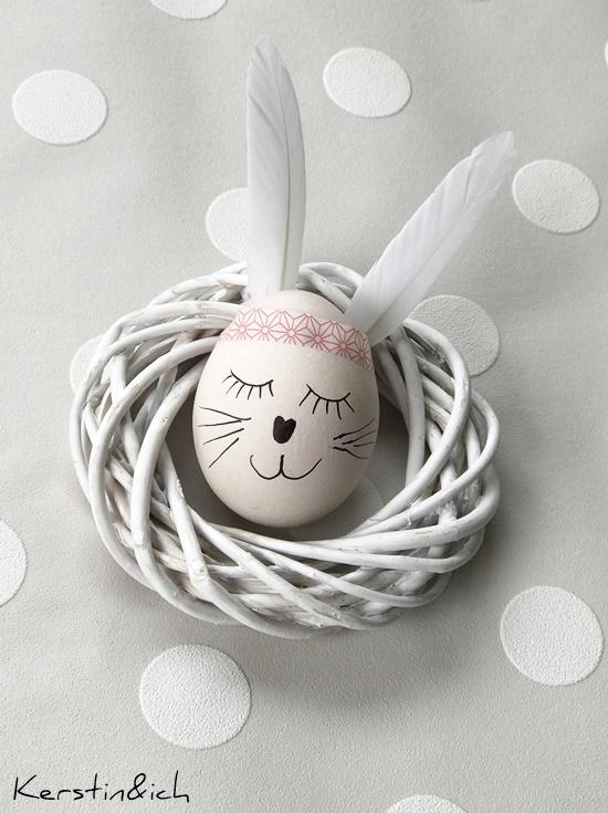 DIY Ostereier Indianerostereier Ostereihasen Ostern Eier Selbermachen Ostereier