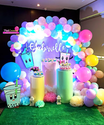 Bubble Tea Themed Candy Buffet
