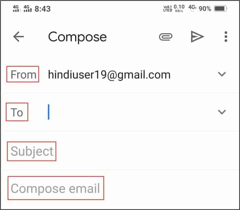 Email Kaise Bheje Mobile Se