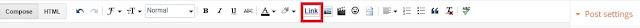 blogger link button