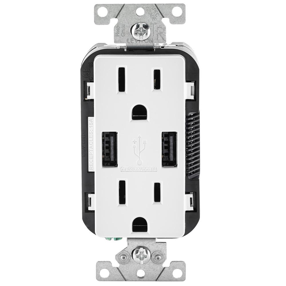 USB outlet for charging devices