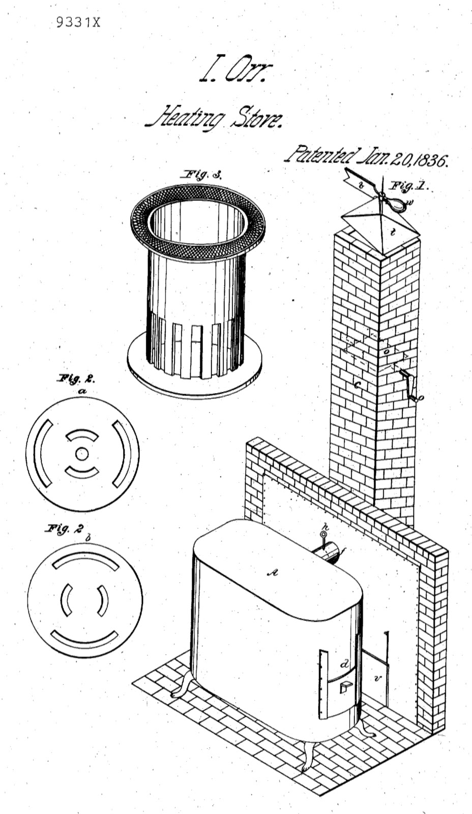 A Stove Less Ordinary The Reverend Isaac Orr Quot Inventor