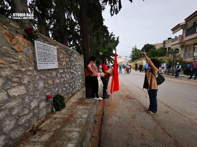Ναύπλιο: Φόρος τιμής από το ΚΚΕ Αργολίδας στους αγωνιστές που εκτελέστηκαν στη μάντρα του νεκροταφείου (βίντεο)