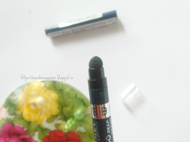 Rimmel London Exaggerate Waterproof Eye definer- 230 Deep Ocean Review and Swatches