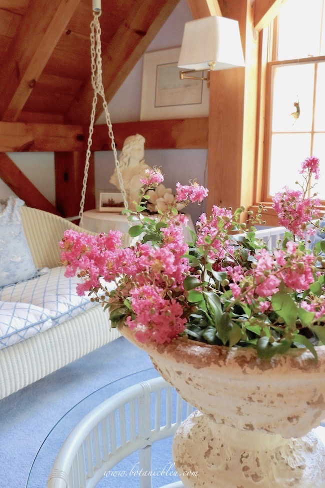 French Country Summer Swing Loft Crepe Myrtles