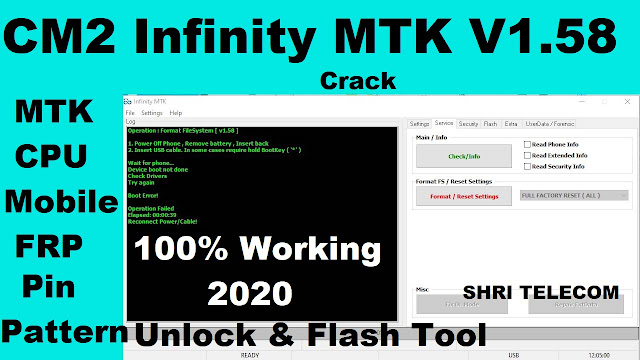 Infinity CM2 Dongle MTK 1.58 Crack Tool 100% working 2020 - Shri Telecom