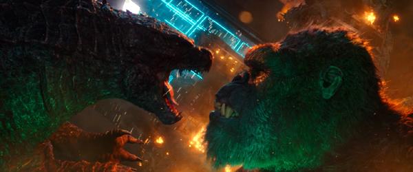 Godzilla and King Kong brawl in GODZILLA VS. KONG.