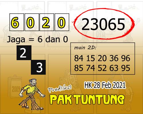Prediksi Pak Tuntung Hk Minggu 28 Februari 2021