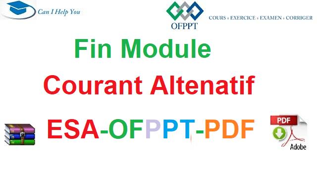 Examen De Fin Module Courant Alternatif Électromécanique des Systèmes Automatisées-ESA-OFPPT-PDF